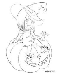 Small Picture Witch Coloring Pages Printables Fun for Halloween
