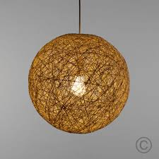 minisun round wicker ceiling pendant light shade easy fit lampshade