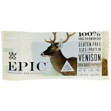 Epic Bar Meat Snacks <b>Venison Sea Salt</b> Pepper