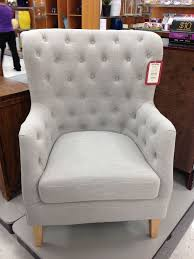 charming wingback chair in gainsboro color with cream wooden legs for home furniture ideas