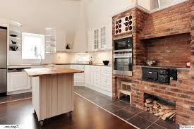 Ceramic Wall Tiles Kitchen Kitchen Cupboards Made With Bricks White Stained Iron Pendant Lamp