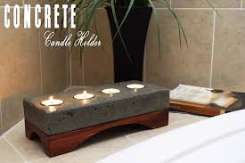 Diy Candle Holders Concrete Candle Holder How To Make Diy Build Youtube