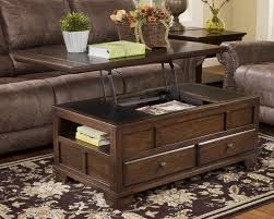 ... Coffee Table, Exciting Dark Brown Rustic Wood Trunk Coffee Table With  Drawer Ideas Which Can ...