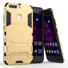 huawei 8 pro. cool plastic tpu kickstand back case for huawei honor 8 pro / v9 - gold