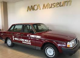 originally owned by lehman motors client selden cooper the 1987 volvo 240dl sedan surped the 1 000 000 mile mark in 2010 during a factory scheduled