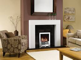 gazco logic he balanced flue fire coal fuel bed with polished chrome effect arts front and polished stainless steel effect box profil2 frame