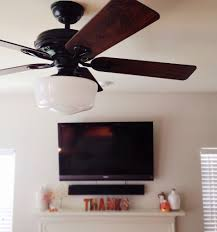 Ceiling Fan With Schoolhouse Light Hunter Savoy Grace And Joy Girl