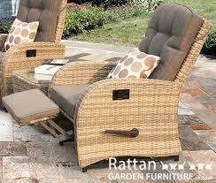 reclining rattan chairs rocking