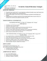 Security Resume Samples
