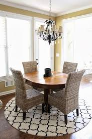 rug under round kitchen table. Simple Rug Loving The Rug Chandelier And Those Chairs  TiffanyD In Rug Under Round Kitchen Table U