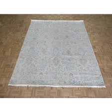 8 2 x 10 4 hand knotted beige oushak ikat oriental rug ushak g6981