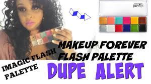 dupe alert makeup forever flash palette vs imagic flash palette swatches