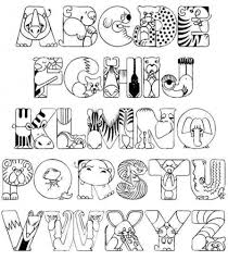 Collection Realistic Animal Alphabet Coloring Pages Pictures