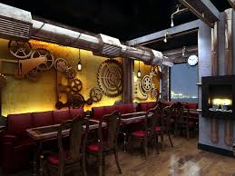 Chonas steampunk restaurant and pub is located in New Delhi, India.