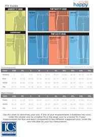 Carhartt Scrubs Size Chart