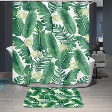 2019 waterproof shower curtain bathroom polyester sc12 parrot hd 3d printed 13 sizes bath curtains tropical plants fabric 12 hooks from herbertw