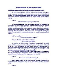 refugee mother and her child by chinua achebe explain what the page 1 zoom in