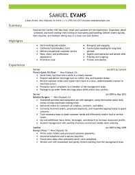 Fast Food Server Resume Examples Free To Try Today