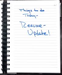Updating A Resume 4 Reasons