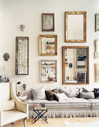 Mirror grouping on wall Vintage Add Collection Of Thrift Store Mirrors To Create Gorgeous Wall Grouping Could Gold Leaf And Distress New Mirrors Too Pinterest You Can Never Have Too Many Picture Frames Wall Decor Pinterest