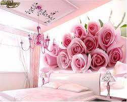 Beibehang 3d Foto Tapete Für Schlafzimmer Rosa Stereoskopischen Rose