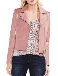 pink faux leather moto jacket return to previous page zoom images
