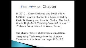 Apa Chapter Citation