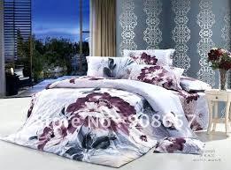 purple duvet covers king grey purple prints flower duvet quilt covers sets for home textile full