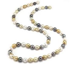 tahitian pearl necklace touch to zoom