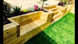 fancy modern retaining wall ideas sketch art decor garden levelling stairs benches from railway sleeper furniture