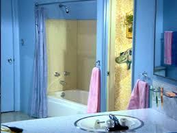 kids bathroom lighting. Perfect Kids Beach Themed Bathroom For Kids With Purple Hand Towel And Blue Shower  Curtain On Lighting