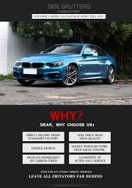 Sport Series bmw 435i price : Carbon Fiber Side Bumper Skirts Extension Splitters for BMW 4 ...