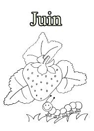 06 Juin Coloriage Mois De L Ann E Coloriages Pour Enfants