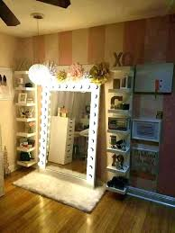 makeup table closet vanity ideas amazing chandelier for little closet vanity ideas