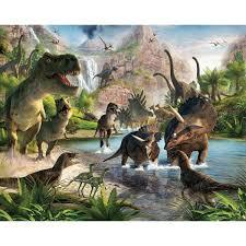 w dinosaur land wall mural wt41745