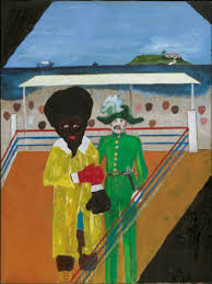 peter doig and chris ofili untitled 2000 oil on canvas 16¼ x 12 courtesy of peter doig and chris ofili afroco