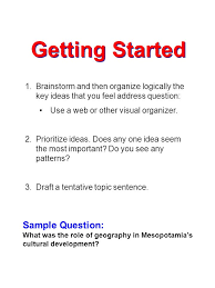 writing a history essay ppt video online  2 getting