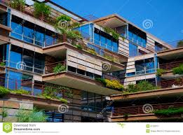 Environmentally Friendly Apartment Building Stock Image Image Of