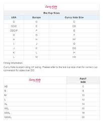 Curvy Kate Size Chart Curvy Kate Victory Balcony Bra Ck9001