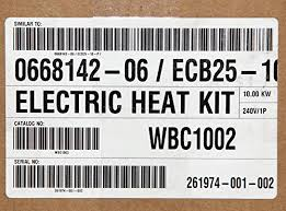 lennox ecb25 10 warren wbc1002 furnace electric heater coil strip lennox ecb25 10 warren wbc1002 furnace electric heater coil strip 10kw 240v home garden household appliances climate control appliances duct heaters