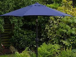 blue crank tilt garden umbrella 2m