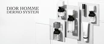 visual of the dior homme dermo system range