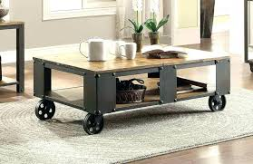 rustic coffee table wheels industrial coffee table with wheels industrial coffee table with wheels interesting industrial