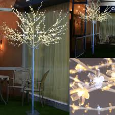 Decorative Indoor Trees 8ft 600 Led Cherry Blossom Tree Light Indoor Outdoor Christmas