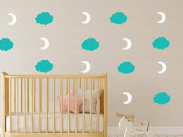 grey cloud wall decals removable