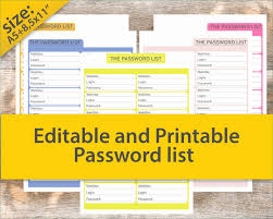 Password Log Password Tracker Template Excellent Password Log Password Tracker