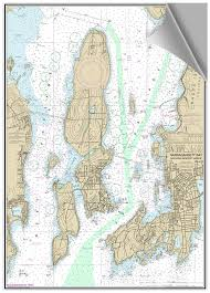 Bluewater Books Charts Decorative Nautical Cht Newport