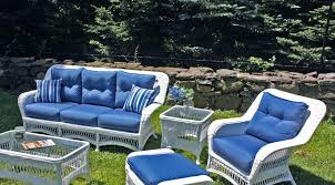 white patio furniture modern white wicker patio furniture with blue replacement cushions and ottoman white metal white patio furniture