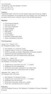 Resume Templates For Teachers Best Of Teacher Resume Template Best Design Tips MyPerfectResume