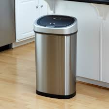 outstanding ikea trash cans with stainless trash can 13 gallon and copper kitchen trash can